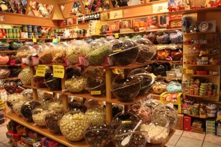 Ассортимент магазина сладостей