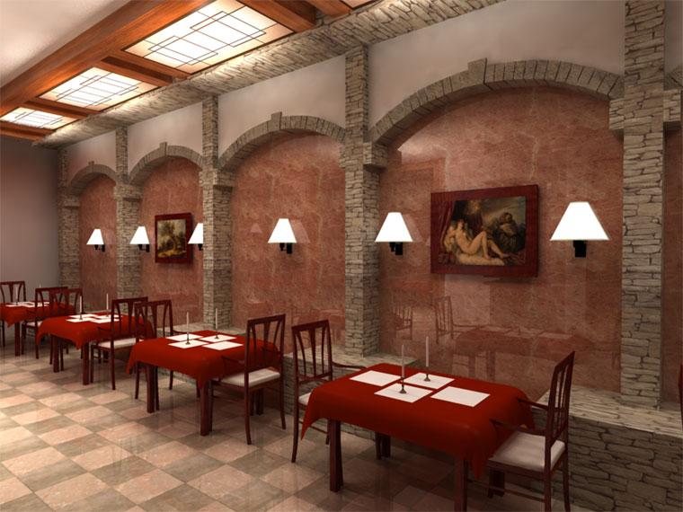 Идея для дизайна ресторана