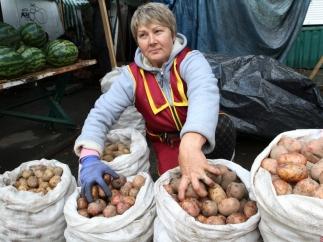 Продажа картофеля.