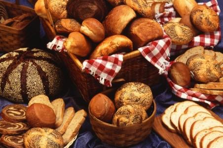 Хлебо-булочные изделия в кафе-кондитерской