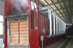 Туннельная печь для обжига кирпича