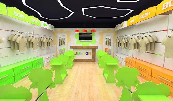 Идея оформления интерьера магазина