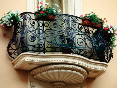 Кованное балконное ограждение