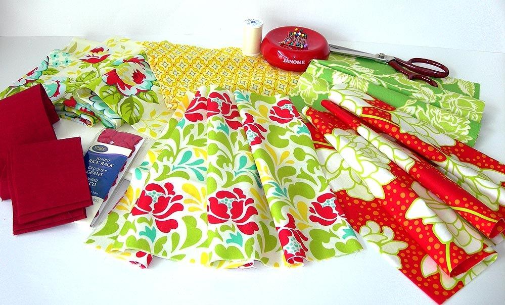 Инструменты и материалы для шитья фартуков