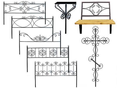Ковка оград, крестов, скамеек - еще один вариант бизнеса в похоронном деле.