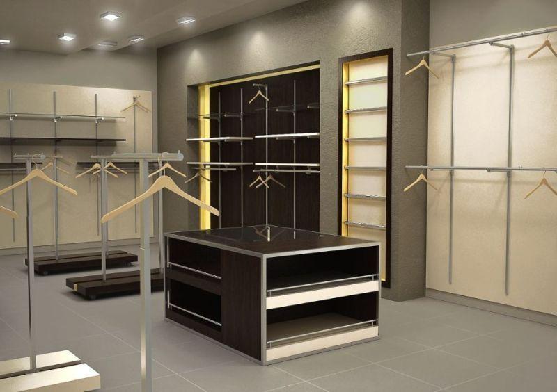 Интерьер помещения для магазина одежды