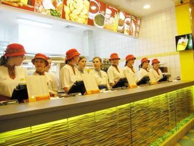 Персонал кафе быстрого питания