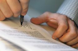 Подписание договора с клиентом