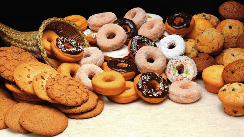 Донаты, маффины и печенье