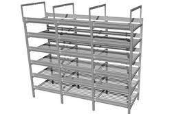 Алюминиевый стеллаж для выращивания грибов