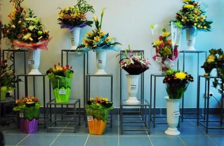 Ассортимент цветочного магазина