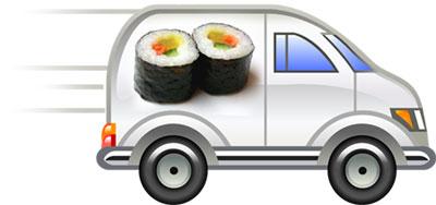 Доставка суши.