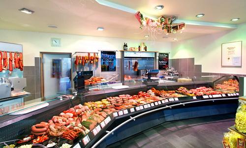 Интерьер колбасного магазина
