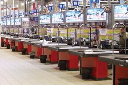 Кассы гипермаркета