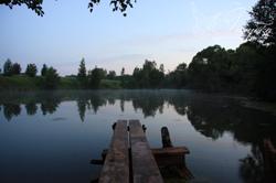 """Озеро в туристическом имении """"Голубка"""""""