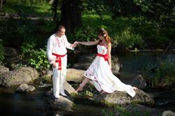 Свадебный обряд в славянском стиле