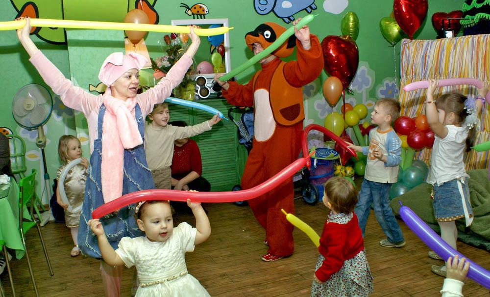 День рождения в детском кафе