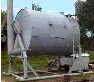 Передвижная углевыжигательная печь для производства древесного угля
