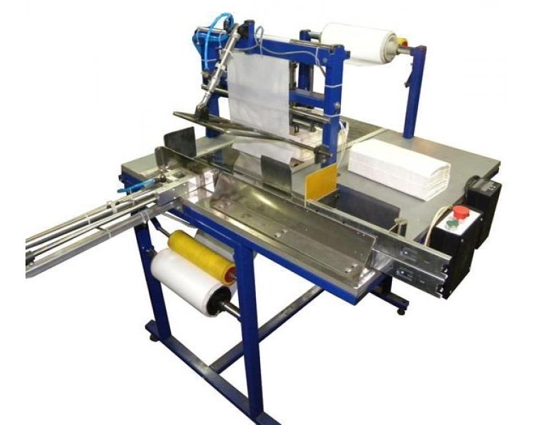 Полуавтомат для упаковки бумажных салфеток