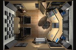 Пример планировки студии звукозаписи
