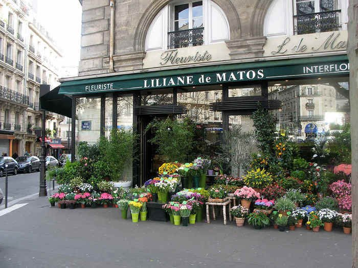 Расположение цветочного магазина