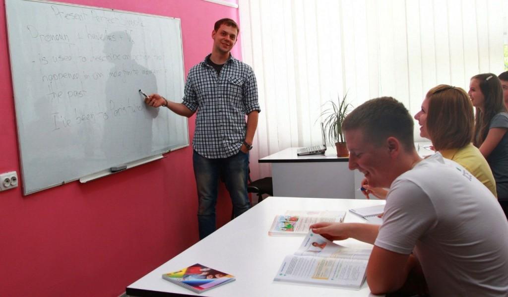 Занятие в школе по иностранному языку