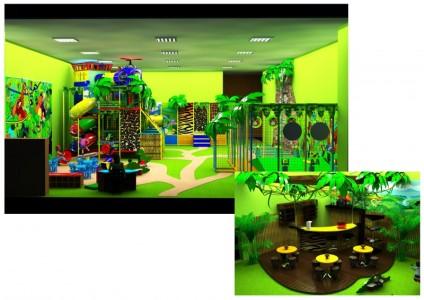 Игровая комната для детей с кафе