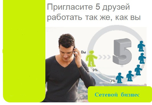 Приглашение к сетевого бизнесу